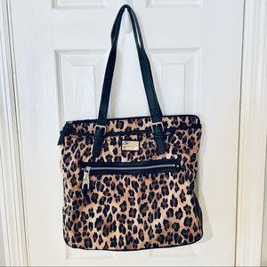 Dana Bachman Large Leopard Shoulder Bag